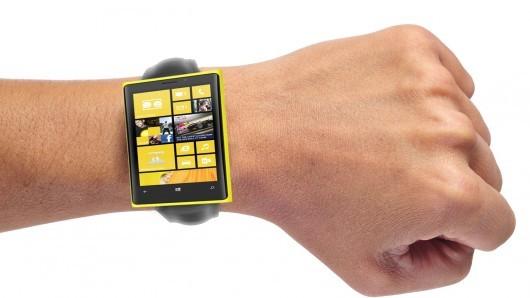 concept de montre connectée Microsoft