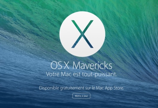 OS X Mavericks disponible gratuitement sur l'Apple Store...