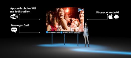 Darkless - Diffusion Photos et Messages en direct sur écran géant
