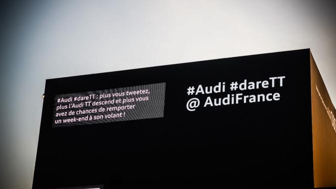 #DareTT - Faites descendre la nouvelle Audi TT avec Twitter pour le Mondial de l'Automobile