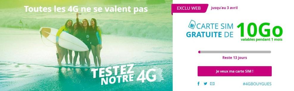 Tester la 4G de Bouygues Telecom gratuitement c'est possible