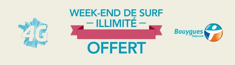 1 an de 4G Bouygues Telecom - Data illimitée en 4G pour le weekend du 4 octobre