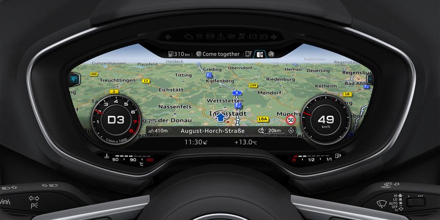 Démonstration de l'Audi Virtual Cockpit (Vidéo)