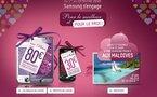 Pour la Saint Valentin, Samsung vous offre les Maldives pendant 1 semaine