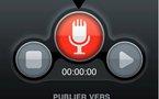 TweetVox pour iPhone - Envoyez des messages vocaux sur Twitter et Facebook