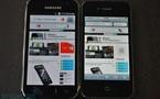Comparatif d'écran entre iPhone 4 et Galaxy S