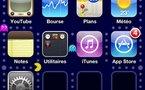 Pac-Man en fond d'écran sur l'iPhone iOS4 - j'adore :)