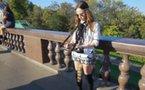 Musicienne de rue High Tech