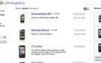 Google Phone Gallery - Comparateur de mobiles Android en ligne