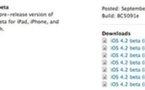 iOS 4.2 GM - Téléchargement et installation