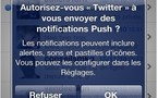 Twitter pour iPhone adopte le Push