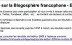 Oyez, Oyez, Blogueuses, Blogueurs ...