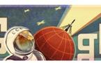 Youri Gagarine à l'honneur sur Google
