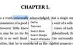 Google Books - Recherche, définition et traduction proposées
