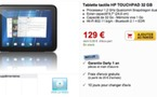 Darty propose la HP Touchpad 32 Go à 129 €