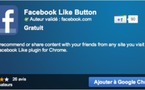 Bouton Facebook Like pour Google Chrome