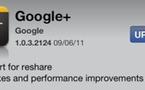 Google + pour iPhone - le partage de post apparait dans la mise à jour