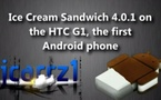 Android Ice Cream Sandwich sur un HTC G1, a donne quoi ?