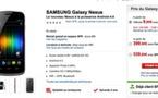 Le Galaxy Nexus est disponible chez SFR à partir de 9,90 €