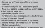Twitter - Mise à jour de l'application iOS et Android