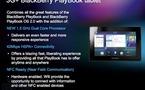 Une Blackberry Playbook 3G en avril et une housse clavier le 23 mars
