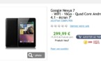 La Google Nexus 7 16 Go  300  en France ( maintenant)