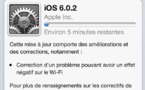iOS 6.0.2 et Google Maps sur iPhone