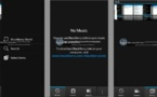 Blackberry 10 - Des images des interface photos, vidéos et musique
