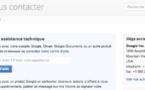 Listing des formulaires pour contacter Google