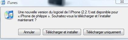 Firmware 2.2.1 iPhone en téléchargement