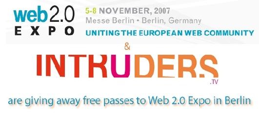 Intruders et Accessoweb vous offre 6 pass pour le Web2.0 Expo de Berlin !