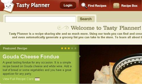 Le Peer 2 Peer de la cuisine : tasty planner