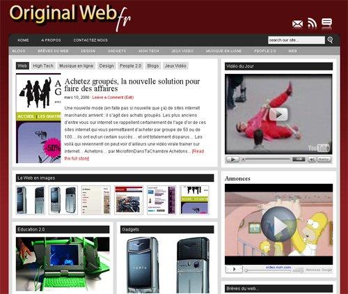 Auto promo : Original Web, le nouveau magazine sur le Web pour tous...