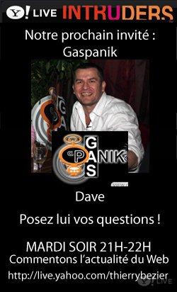 Ce soir, David de Gaspanik sera sur Intruders Live