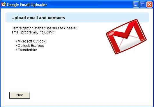 Google Email Uploader - transferez vos emails et contacts depuis Outlook et Thunderbird sur Gmail