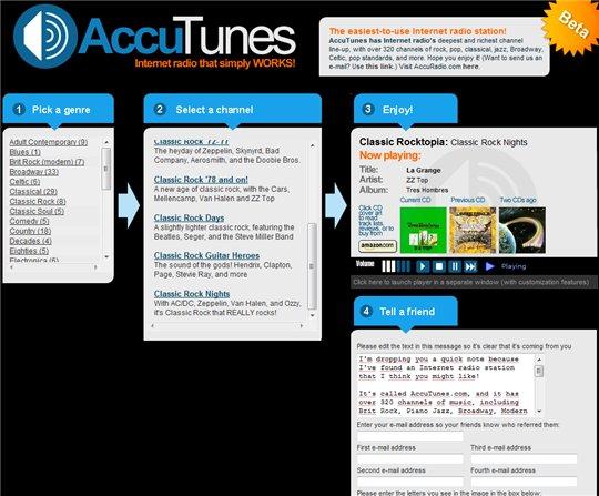 AccuTunes - un autre moyen d'écouter de la musique en ligne