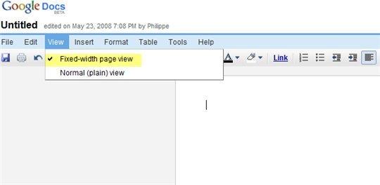 Petite nouveauté sur Google Document