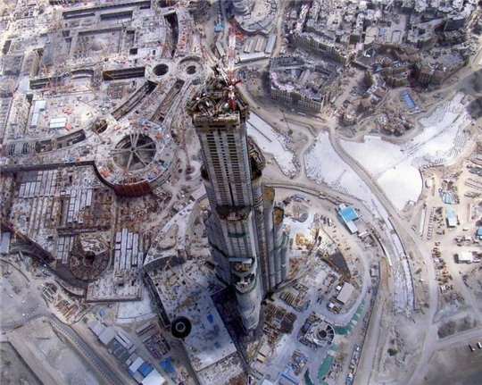 Burj Dubaï - vue du ciel c'est vraiment impressionnant