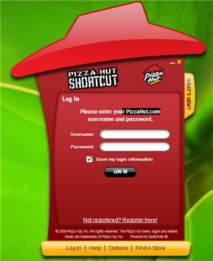 Pizza Hut Shorcuts - Votre commande a domicile via Adobe AIR