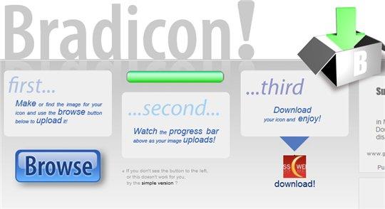 Bradicon - transformer une image en Favicon en 1 clic