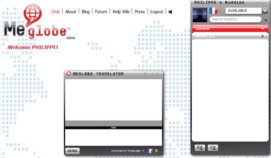 MeGlobe - Service de messagerie avec traduction instantannée