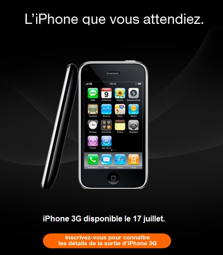 Le iPhone 2 arrive officiellement sur le site d'Orange