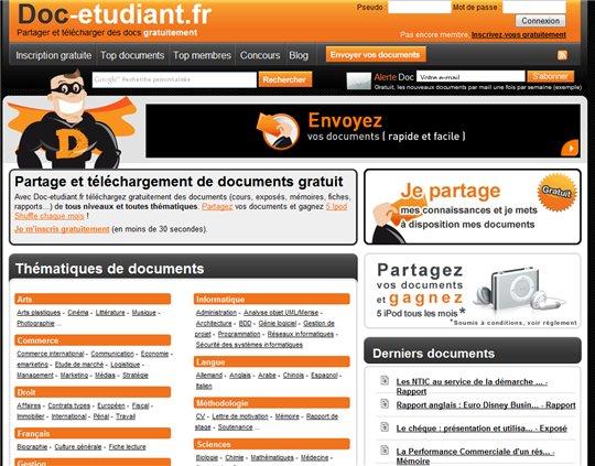 Doc Etudiant - le site de partage des etudiants