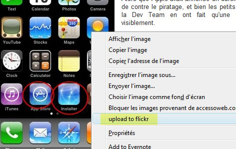 un plugin Firefox pour uploader des photos sur Flickr
