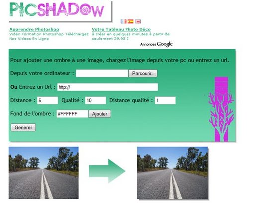 PicShadow - Ajout d'une ombre à une photo