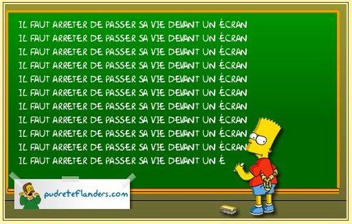 Quand Bart Simpson écrit pour vous les punitions au tableau