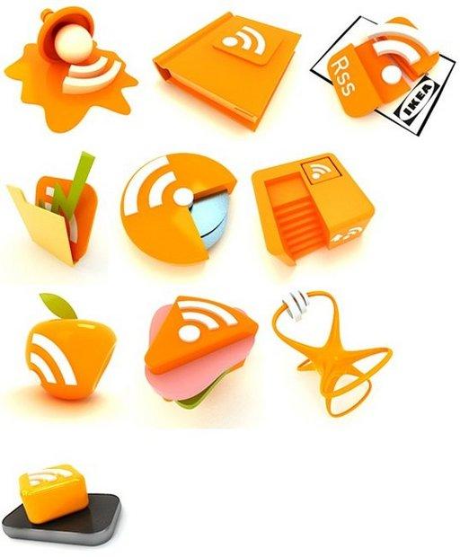 De nouvelles magnifiques icônes RSS en 3D