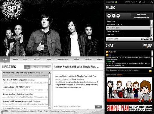 FanBase - une application Adobe Air pour les fans des groupes sous le label Atlantic Records