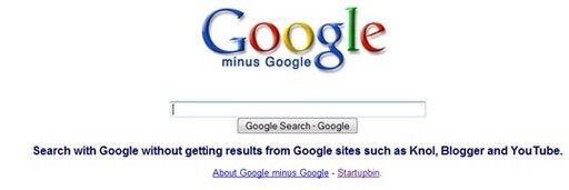 Google Minus Google - C'est la recherche dans Google sans les résultats de .... Google