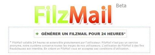 Filzmail - l'adresse mail jetable